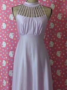 Light Pastel Purple Goddess Gown Dress